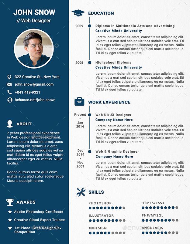 Web And Graphic Designer Resume Cv Graphic Design Resume Resume Design Graphic Design
