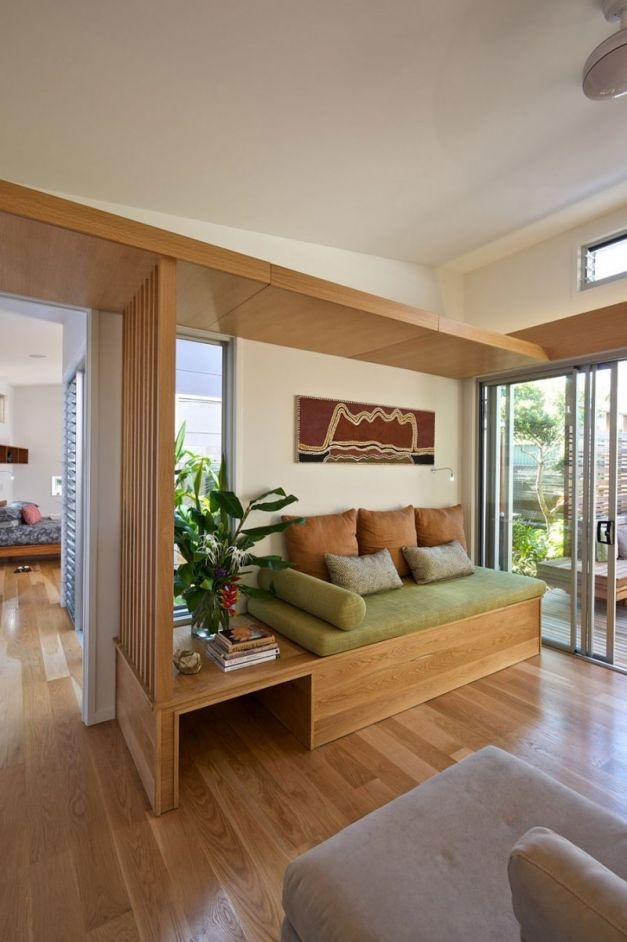 contemporary wooden home interior design by built environment practice wooden shelf and bench completed