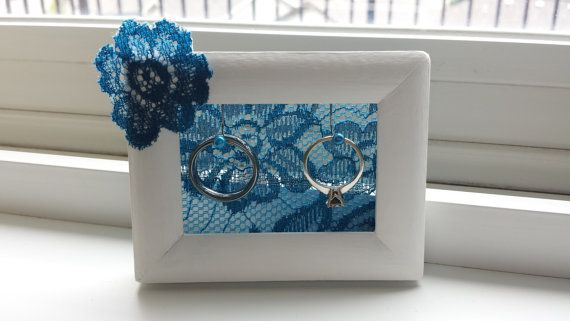 Ring Holder Frame / Ring Storage / Aqua Wedding by RiversToSea #AquaWedding #BeachWedding #ringholderframe #ringbearer #etsy #riverstosea
