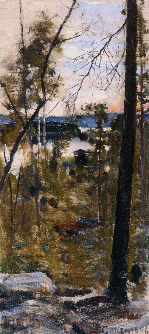 AKSELI GALLEN-KALLELA  Evening Landscape from Korpilahti