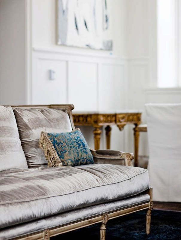 Perfect grey velvet.  Love colors. From a perfect gray.  I love this sofa! Everything about it.