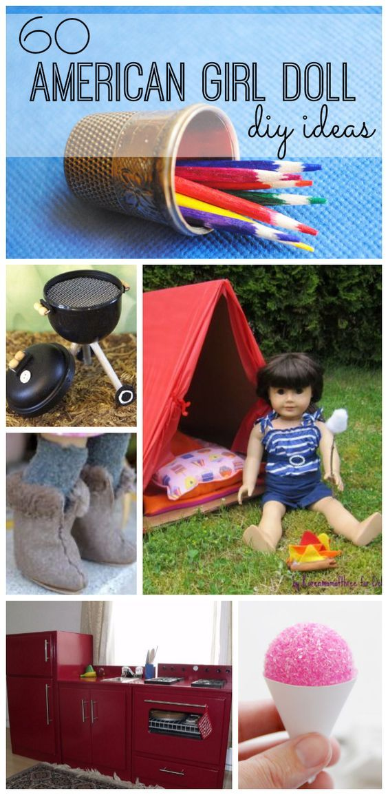Have fun (and save money) making these American Girl Doll DIY projects. From fur…  – DIY  Projects
