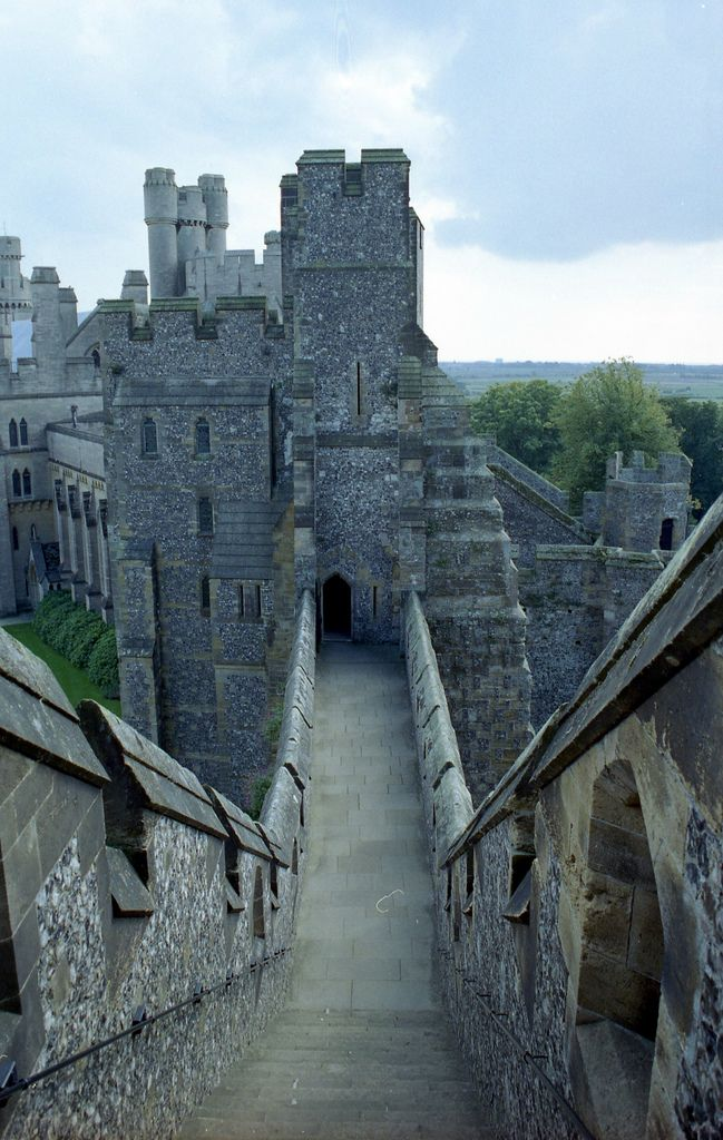 Arundel Castle, West Sussex, England - is a restored medieval castle.  The castle was damaged in the English Civil War and then restored in the 18th and 19th centuries.