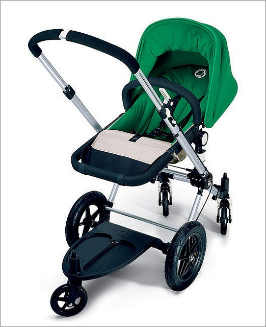 bugaboo frog green.... found one of these (in red) on craigslist. win! I can make it more our colors with some sewing projects (buwahaha)