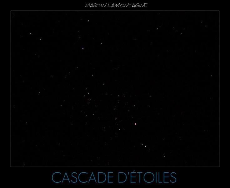 Cascade d'étoiles Amas # Panasonic LUMIX