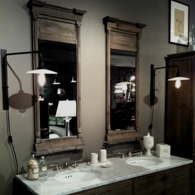 Restoration Hardware Bathroom Lighting Bath Mirrors Fixtures Designs Ideas Inspiration