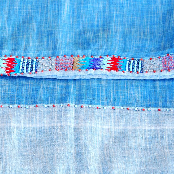 OSHI blue - amet & ladoue SS14 #ametandladoue #stole