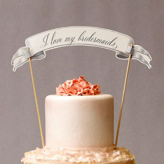 Bridal Shower Game - 6 Silver Charm Cake Pulls for your Bridesmaids & Flower Girls
