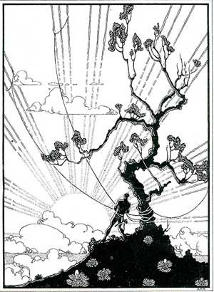 Image: Maui Snaring the Sun, pen and ink drawing by Arman Manookian ...