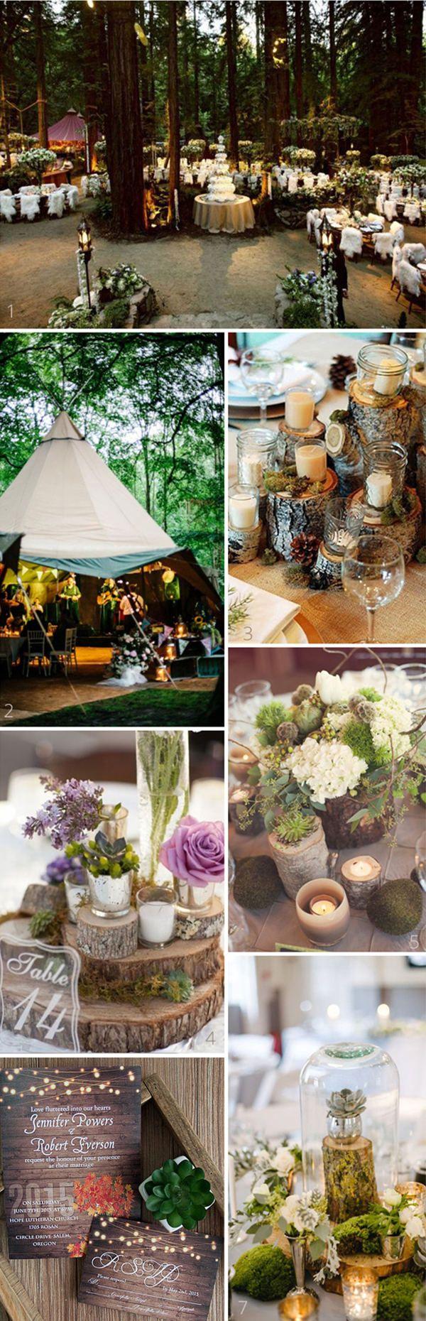 28 Whimsical And Chic Woodland Wedding Ideas