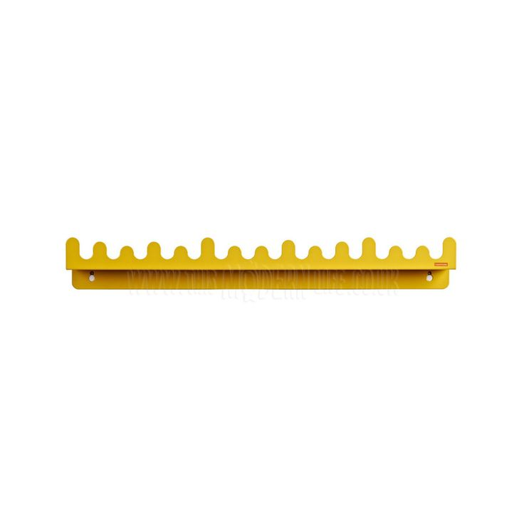 Shelf / Hooks . Doodle Drop - Yellow