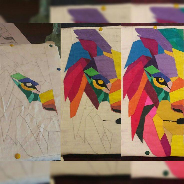 My geometric lion