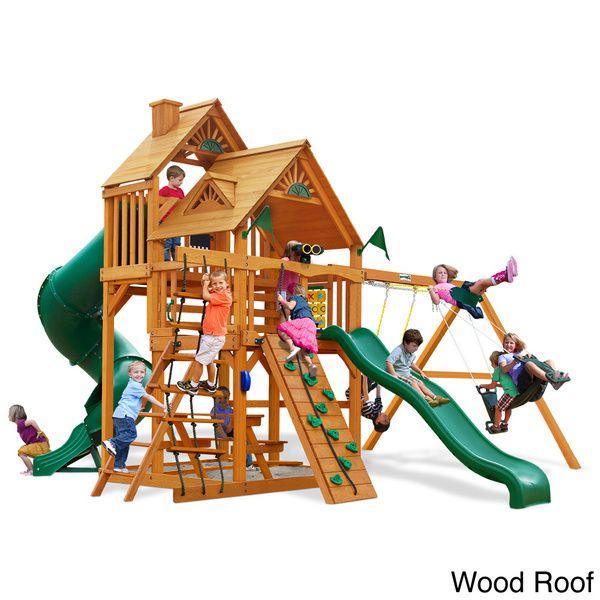 Gorilla Playsets Great Skye I Ap Cedar Swing Set Overstock