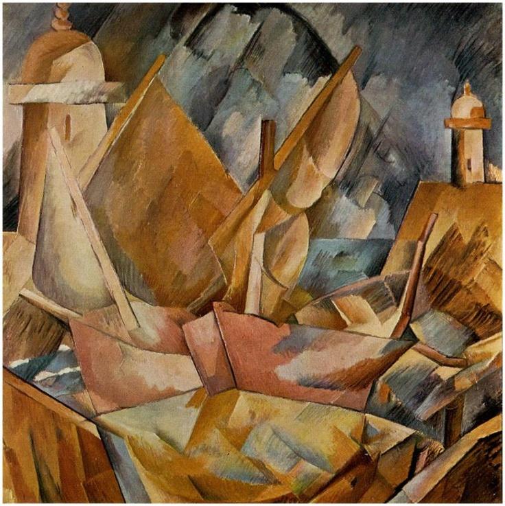 Georges Braque. Bahía de Normandía. 1909. Cubismo Analítico. Ó-L. 80x80 cm. Colección Privada.