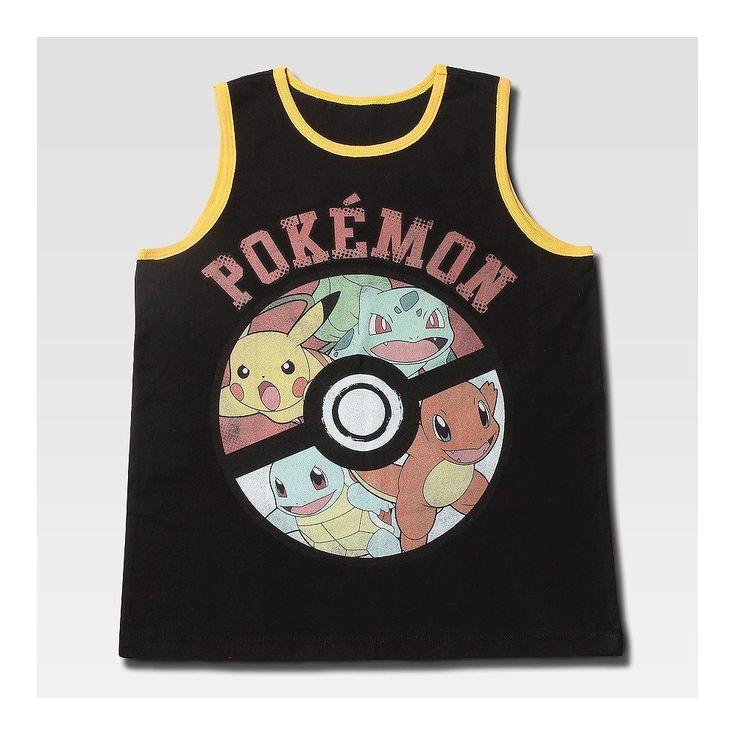 Boys' Pokemon Tank Top Black S, Boy's
