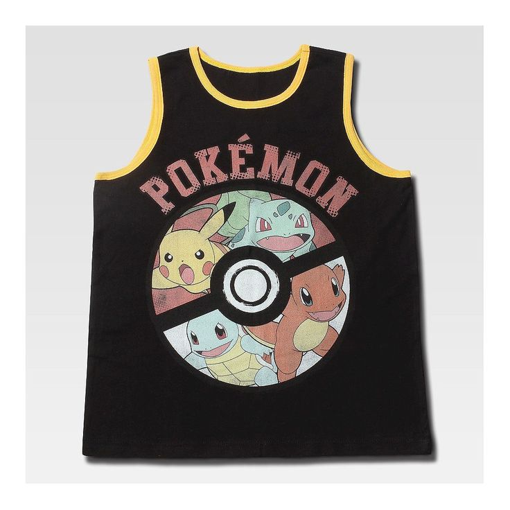 Boys' Pokemon Tank Top Black S, Boy's