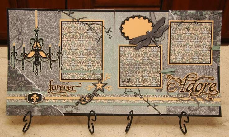Adore layout by monkeydoodlecricut.blogspot.com: Cricut Scrapbook, Cricut Layout, Cards Ideasscrapbook, Forever Adorable, Cricut Challenges, Adorable Layout, Cricut Kits, Griffith Design, Scrapbook Cricut