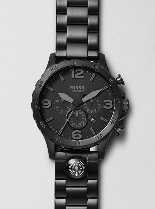 Stainless Steel Watches, Leather Watches for Men | FOSSIL Nate Collection