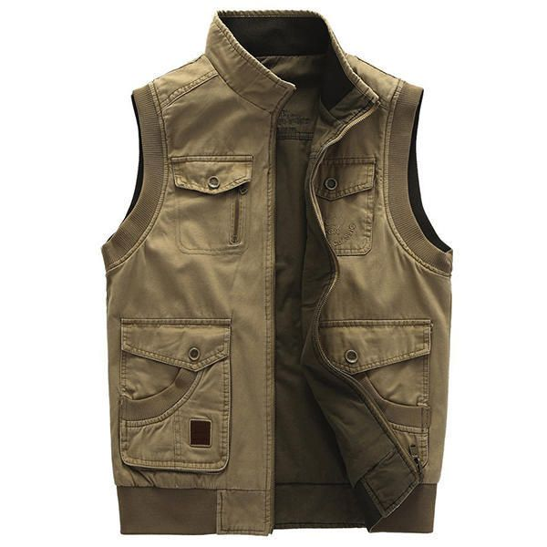 Mens Big Size Casual Outdoors Washed Double Sided Wear Multifunctions Vest at Banggood