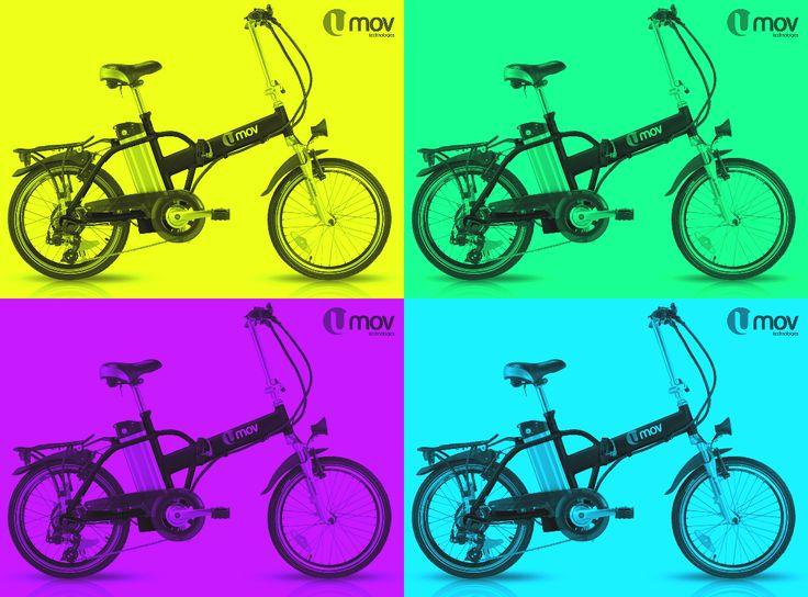 Folding electric bike, practical and fun!   www.umovtech.com