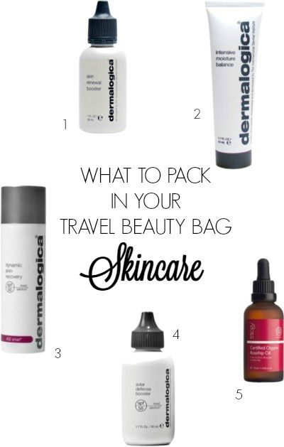 What to pack in your travel beauty bag - Skincare