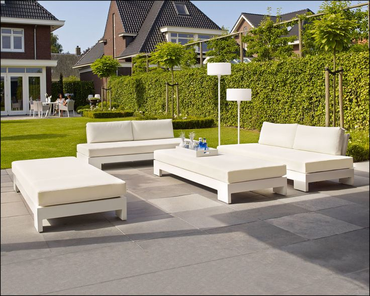 Cube Loungeset wit !   Buitenhof
