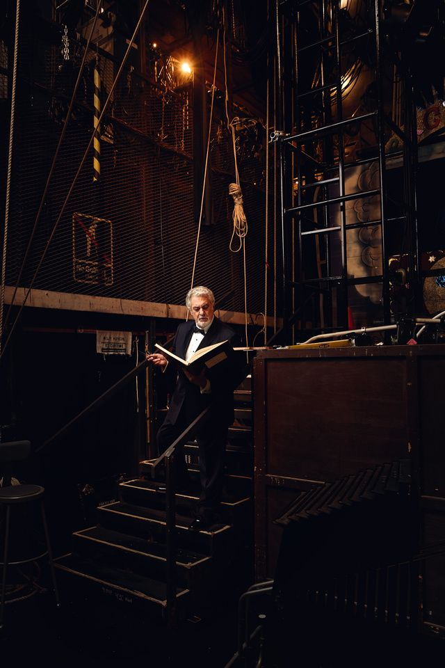 Plácido Domingo, by Art Streiber for Vanity Fair Spain
