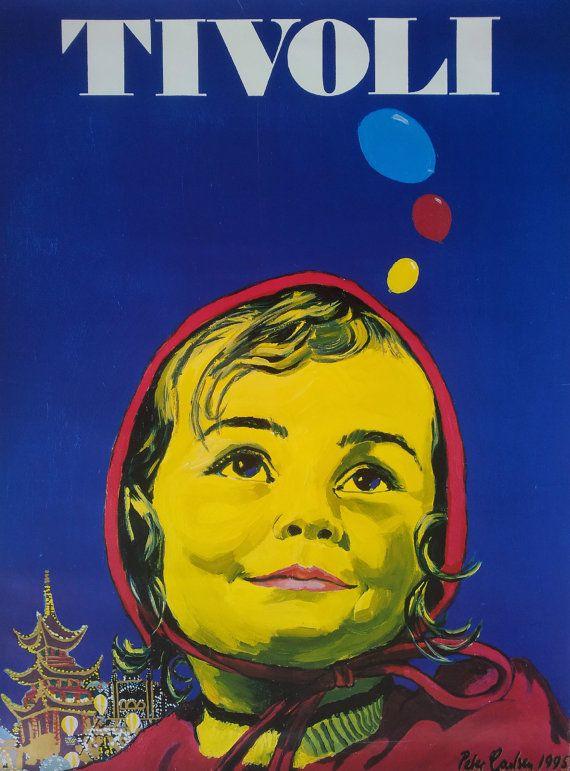 1984 Tivoli Gardens by Poul Janus Ipsen - Original Vintage poster  Amusement...