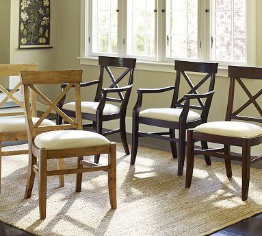 Aaron Upholstered Chair #potterybarn