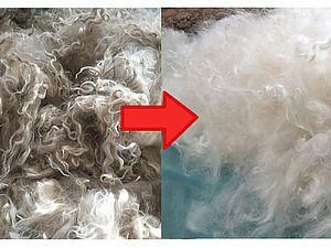 Как стирать и отбеливать козий пух - Ярмарка Мастеров - ручная работа, handmade geitenhaar, rechts gewassen en gebleekt.