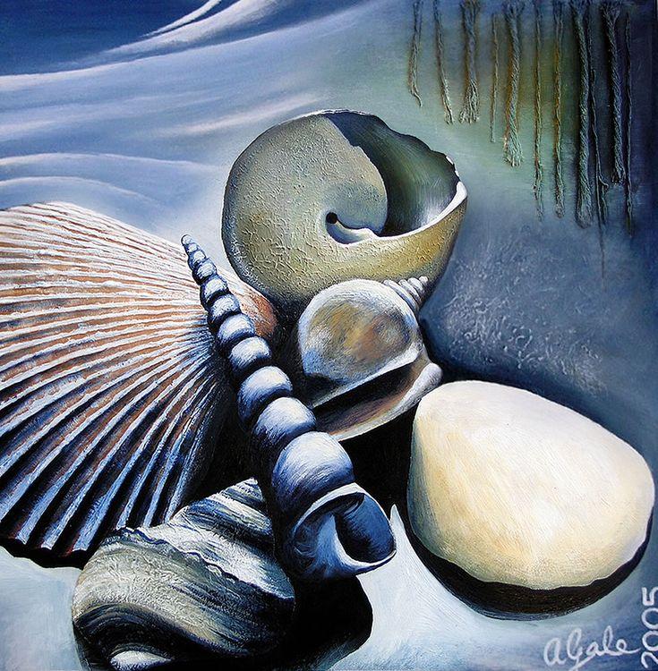 amiria gale shell painting