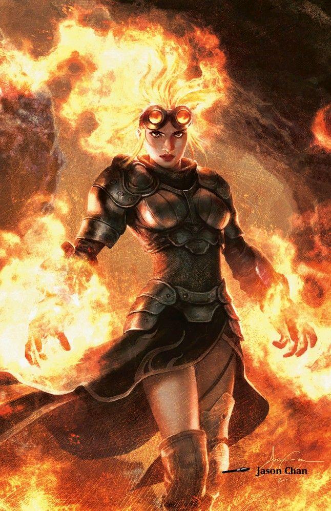 Chandra Ardai, Terceira filha de Raven, elementarista e aventureira famosa em Vellor, especialmente no sul.