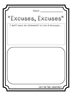the best homework excuse book ever