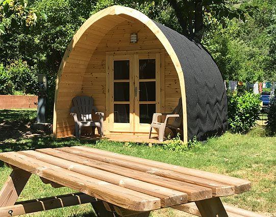 Camping sud Ardèche : Relais des Brison : location de chalets et de mobil homes