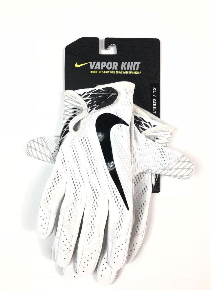 Nike Vapor Knit Football Men Sz Xl 60 Skill Gloves Magnigrip Tech Gf0571 100 Sports Accessories Gloves Nike Vapor