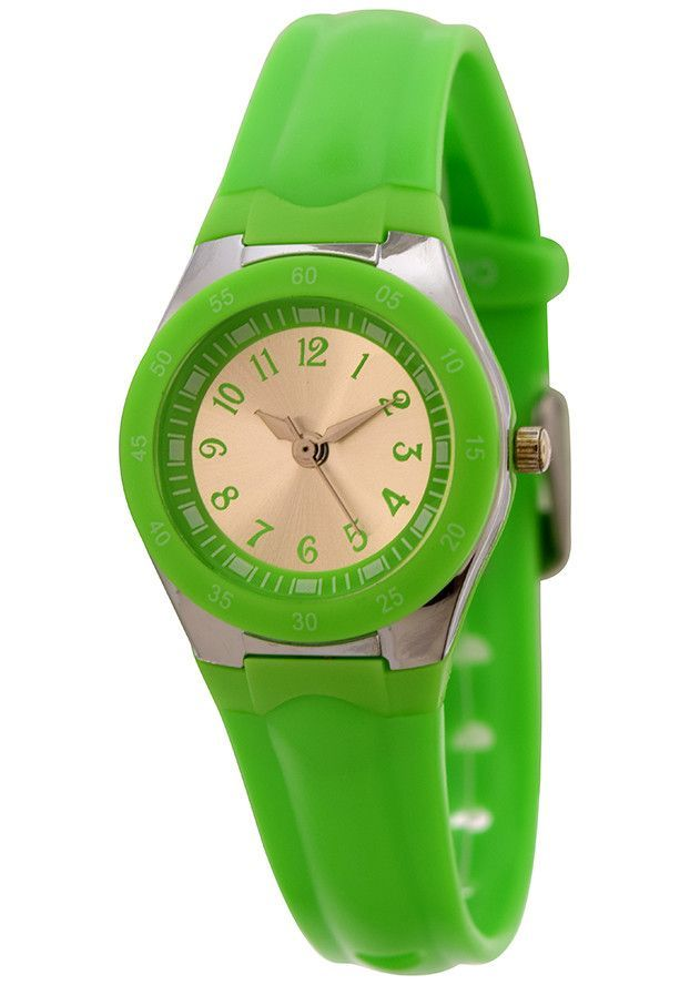 FMD by Fossil Lady's Standard 3-Hand Analog Base Metal Silicone Watch - Light Green   #LiveWorkCreate #FamilyLoveRules #LongLiveVintage #LiveLaughLove