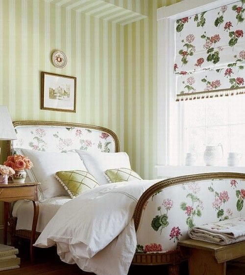 Love the idea of the roman blind matching another fabric in the room.