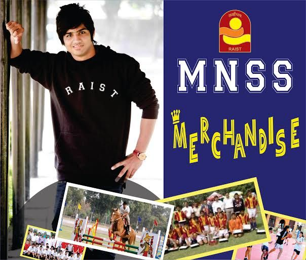 Motilal Nehru School Of Sports Merchandise Like: - T-Shirts, Polos, Caps, Hoodies, Mugs, Flags, bumper stickers, etc.