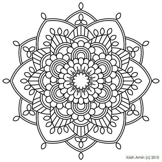 112 printable intricate mandala coloring pages instant download pdf mandala doodling page - Coloring Pages Mandalas Printable