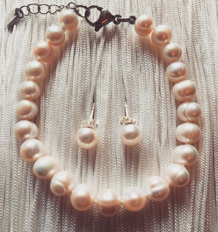 White pearl gift set by Mana jewelry by MANAByGekova on Etsy