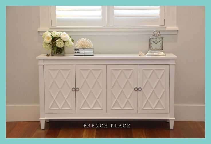 **Sale!** NEW French Hamptons Buffet / Sideboard / Cabinet with Chrome Handles in Home & Garden, Furniture, Dressers & Chests of Drawers | eBay