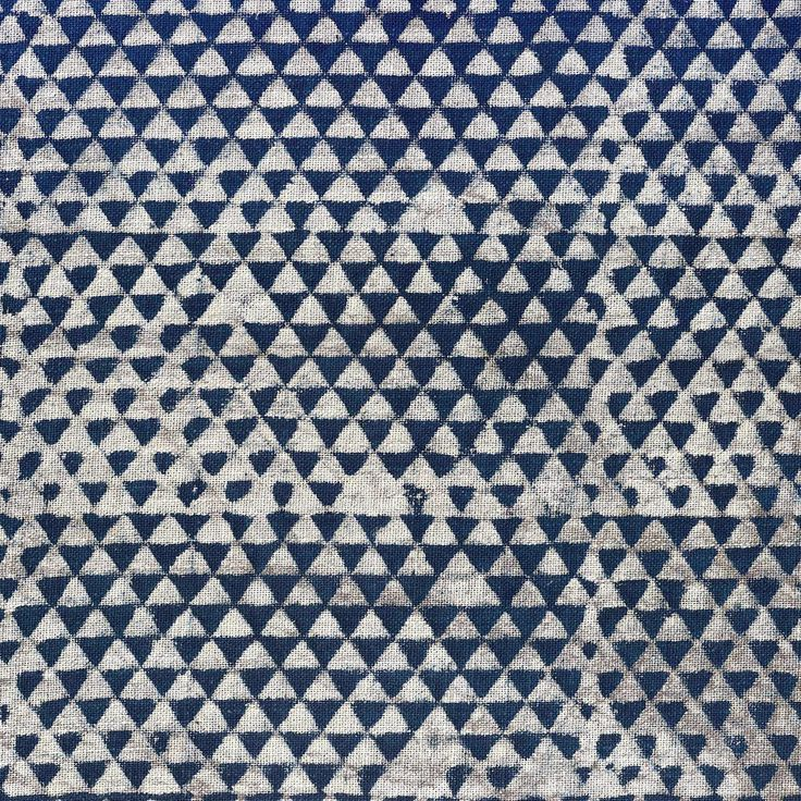 Huts Indigo Cotton | Walter·G | This cotton fabric has been hand block printed with mud (Dabu) and 100% naturally dyed with indigo by a talented team of artisans in Bagru, Rajasthan