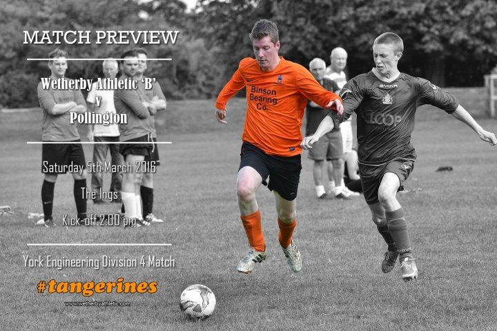 MATCH PREVIEW: 'B' Team Face Tough Challenge As They Take On Pollington. http://www.wetherbyathletic.com/news/match-preview-pollington-1576745.html