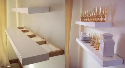 Cómo hacer estantes flotantes, tipo lack : x4duros.com
