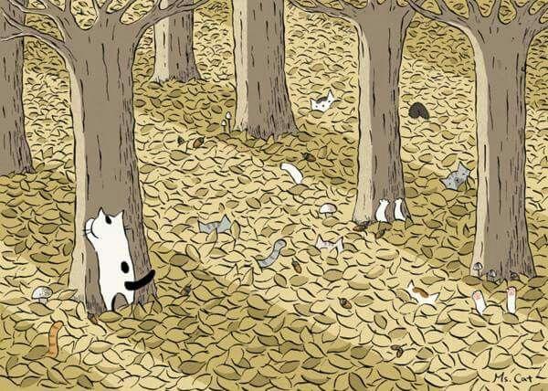 autumn hide and seek