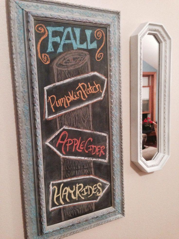 Fall Chalkboard Art Ideas