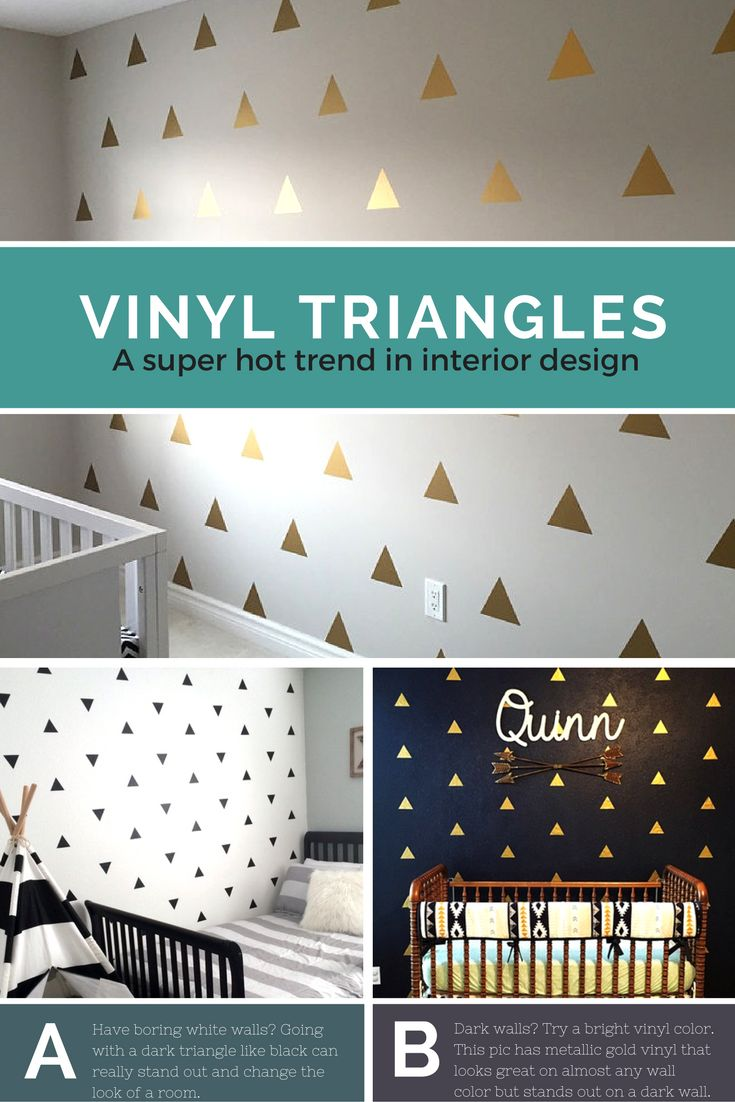 Triangle Wall Decal Triangle Wall Decal