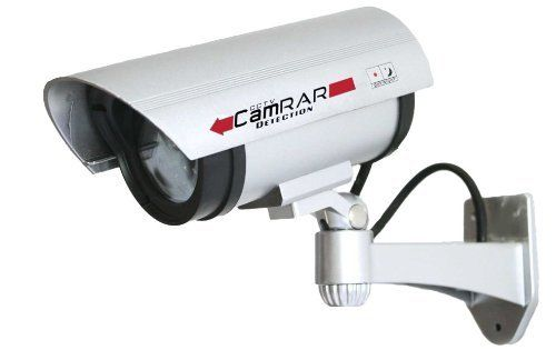 Special Offers - Dummy Security Camera-Secure your Property Fast!Security Cameras Instantly Protect your Home and Family use this Realistic Imitation Fake Home Surveillance System-Outdoor Wireless Video Security CCTV-Infrared Blinking Light with 365 Day Guarantee - In stock & Free Shipping. You can save more money! Check It (September 09 2016 at 01:23PM)…
