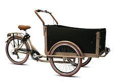 Bakfiets Troy bicicletta bici olanda cargo 4 bambini 7 velocità Shimano croissan | eBay