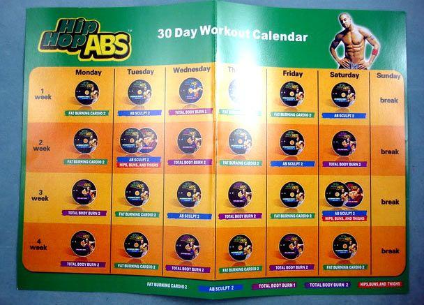 Hip Hop abs calendar